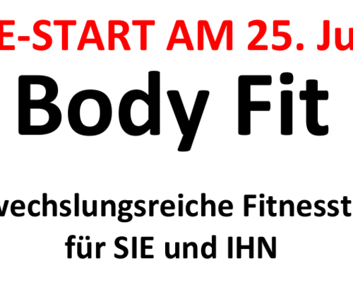 Body Fit startet am 25.Juni