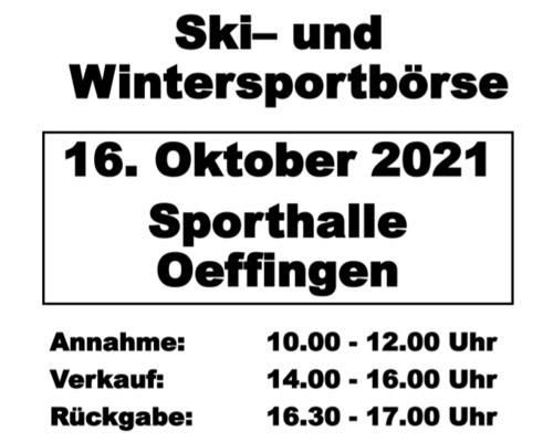 Ski- und Wintersportbörse am 16. Oktober